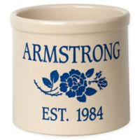 Rose Stem I Stoneware Crock in Blue