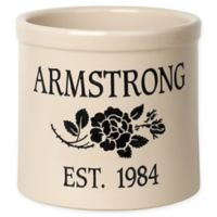 Rose Stem I Stoneware Crock in Black