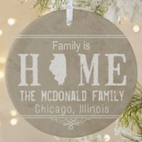 State of Love Personalized 1-Sided Matte Christmas Ornament