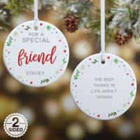 You Are Special Personalized 2-Sided Glossy Christmas Ornament