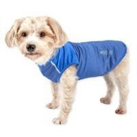 Pet Life™ Active Aero-Pawlse Medium Dog Performance T-Shirt in Blue