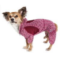 Pet Life ® Active Small Downward Dog Full Bodied Hoodie in Red