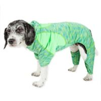 Pet Life ® Active Small Downward Dog Full Bodied Hoodie in Green