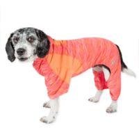 Pet Life ® Active Medium Downward Dog Full Bodied Hoodie in Orange