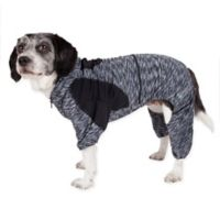 Pet Life ® Active Large Downward Dog Full Bodied Hoodie in Black