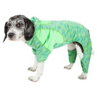 Pet Life ® Active Large Downward Dog Full Bodied Hoodie in Green