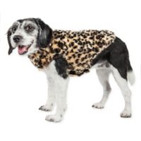 Large Luxe Poocheetah Mink Dog Coat in Brown