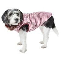 Medium Beautifur Boxed Mink Fur Dog Coat in Pink