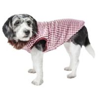 Large Beautifur Boxed Mink Fur Dog Coat in Pink