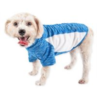 Pet Life® Medium Active Warf Speed Performance Dog T-Shirt in Blue