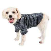 Pet Life® Large Active Warf Speed Performance Dog T-Shirt in Black