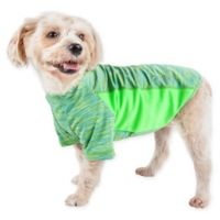 Pet Life® Large Active Warf Speed Performance Dog T-Shirt in Green
