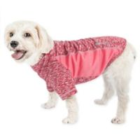 Pet Life® Large Active Warf Speed Performance Dog T-Shirt in Pink