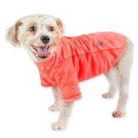 Pet Life® Large Active Warf Speed Performance Dog T-Shirt in Orange
