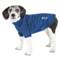 Pet Life Active Extra-Small Fur-Flexed Solid Polo T-Shirt in Navy