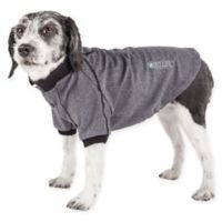 Pet Life Active Extra-Small Fur-Flexed Solid Polo T-Shirt in Grey