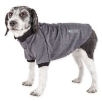 Pet Life Active Small Fur-Flexed Solid Polo T-Shirt in Grey