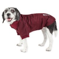 Pet Life Active Small Fur-Flexed Solid Polo T-Shirt in Burgundy