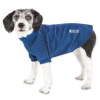 Pet Life Active Extra-Large Fur-Flexed Solid Polo T-Shirt in Navy