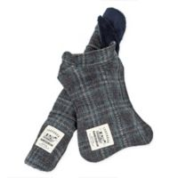 Touchdog 2-in-1 Windowpane Plaid Medium Dog Jacket with Matching Reversible Dog Mat in Grey