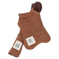 Touchdog 2-in-1 Windowpane Plaid Large Dog Jacket with Matching Reversible Dog Mat in Brown