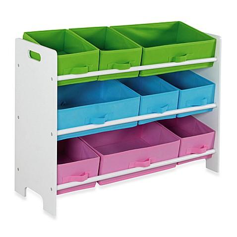 hds trading 9 bin storage shelf bed bath beyond. Black Bedroom Furniture Sets. Home Design Ideas