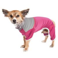 Embarker Large 2-Tone Performance Dog Tracksuit in Pink