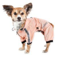 Torrential Shield Extra-Small Full Body Dog Windbreaker Raincoat in Pink