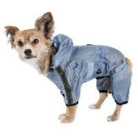 Torrential Shield Extra-Small Full Body Dog Windbreaker Raincoat in Blue
