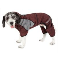 Pawsterity Small Two-Toned Performance Pet Hoodie in Burgundy