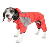 Pawsterity Small Two-Toned Performance Pet Hoodie in Red