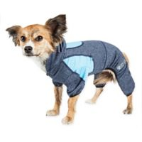 Pawsterity Medium Two-Toned Performance Pet Hoodie in Breeze Blue