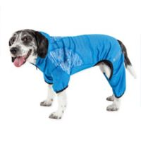 Pawsterity Medium Two-Toned Performance Pet Hoodie in Blue