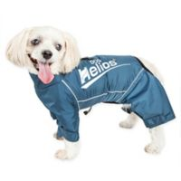 Large Dog Helios® Hurricane Waterproof and Reflective Full Body Dog Jacket in Blue