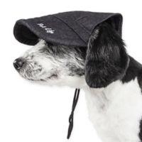 Large Cap-Tivating Fashion Dog Hat in Light Black