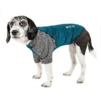 Hybreed Medium 2-Tone Performance Dog T-Shirt in Teal