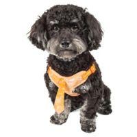 Pet Life® Small Bonatied Adjustable Dog Harness in Orange Marble