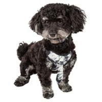 Pet Life® Small Bonatied Adjustable Dog Harness in Black Camo
