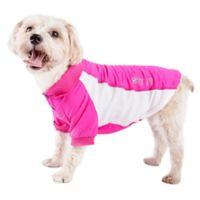 Barko-Pawlo Medium 2-Tone Polo Dog T-Shirt in Pink