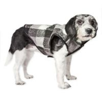 Medium Black Boxer Plaid Insulated Dog Coat