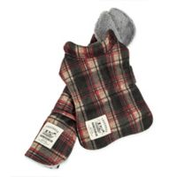 Large 2-In-1 Tartan Dog Jacket with Matching Reversible Mat in Red
