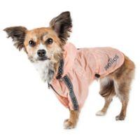 Helios Torrential Shield Adjustable Medium Dog Windbreaker Raincoat in Pink