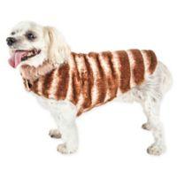 Pet Life® Medium Luxe Tira-Poochoo Dog Coat