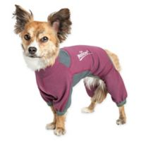 Rufflex Medium Full Body Performance Dog Hoodie in Pink
