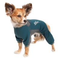 Rufflex Medium Full Body Performance Dog Hoodie in Green