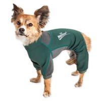 Rufflex Extra-Large Full Body Performance Dog Hoodie in Green