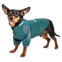 Extra-Small Helios Eboneflow 4-Way Stretch Performance Yoga Dog T-Shirt in Green