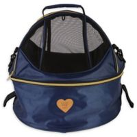 Air-Venture Dual-Zip Airline Approved Round Travel Pet Carrier in Navy