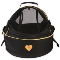 Air-Venture Dual-Zip Airline Approved Round Travel Pet Carrier in Black