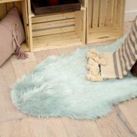 Jean Pierre® Faux Fur 5' Runner Shag Area in Aqua